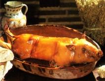 Cochinillo asado al horno