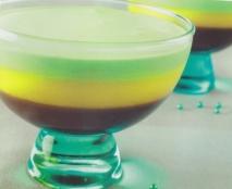 Copa de pistacho, mango y chocolate