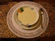 Crema de coliflor al huevo