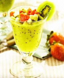 Crema de kiwi y manzana