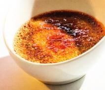 Crema quemada de chocolate y café