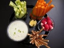 Crudités de verduras con salsa tártara