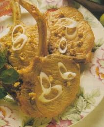 Chuletas de cerdo con salsa