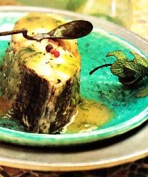 Dentón con salsa verde