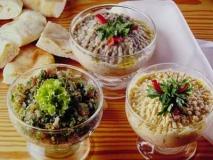 Ensalada de garbanzos (hummus con tahina)