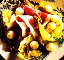 Ensalada de jamón con manzana