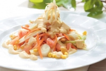 Ensalada de maíz con hummus