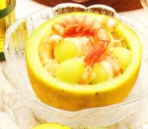 Ensalada de melón y gambas