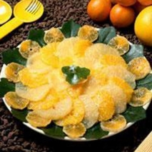 Ensalada de naranja con crema de yogur