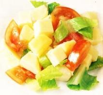 Ensalada de patatas al queso