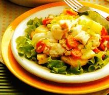 Ensalada de patatas y bacalao