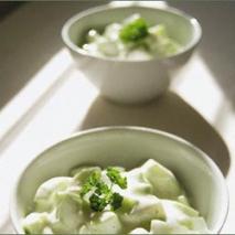 Ensalada de yogur con pepino
