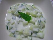Ensalada de yogur con pepinos