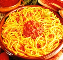 Espaguetis a la marchigiana