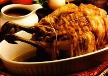 Faisán relleno de foie-gras