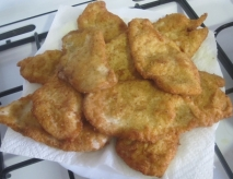 Filetes de gallina rebozados