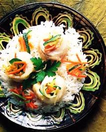 Filetes de lenguado con arroz