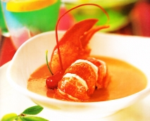 Gazpacho de cerezas con bogavante