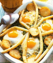 Huevos cocidos a la vasca