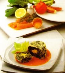 Huevos con espinacas y salmón