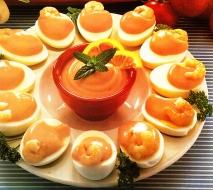 Huevos con salsa rosada