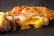 Huevos fritos empanados