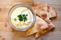 Hummus con pan de pita