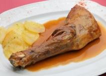 Jarretes de ternasco de Aragón estofados en su salsa