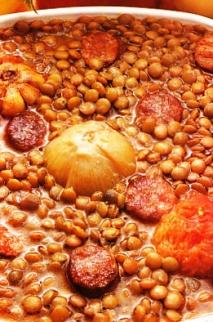 Lentejas estofadas con chorizo