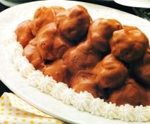 Lionesas con salsa de chocolate
