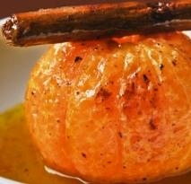 Mandarinas caramelizadas con coulis