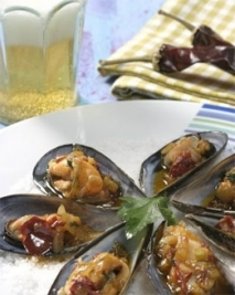 Mejillones con salsa de ñoras
