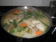 Menestra de verduras con almendras