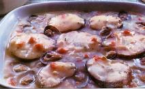 Merluza con salsa de pimiento morrón