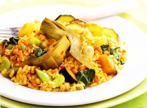 Paella de verduras