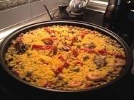 Paella mixta valenciana