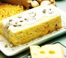 Pastel de macarrones y champiñones