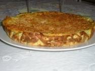 Pastel de calabacín con arroz con leche