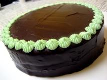Pastel de chocolate a la menta