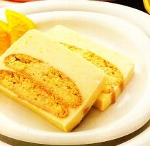 Pastel de crema a la naranja