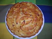Pastel de manzana con ron