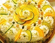 Pastel de naranja y lima