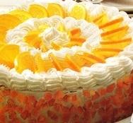 Pastel de naranja y nata