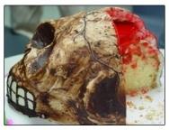 Pastel repugnante de Halloween