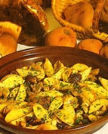 Patatas con setas de calabaza