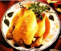 Pollo asado al estilo árabe