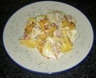 Ravioli a los cuatro quesos