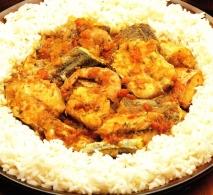 Revuelto de pescado al estilo hindú