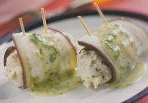 Rollitos de berenjena y pechuga de pollo
