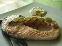 Salmón en papillote con salsa de mostaza
